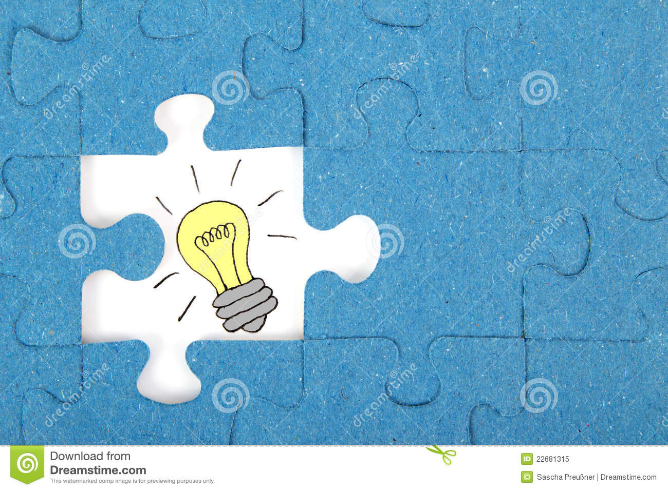 Missing Piece Of A Puzzle Royalty Free Stock Photo - Image ...