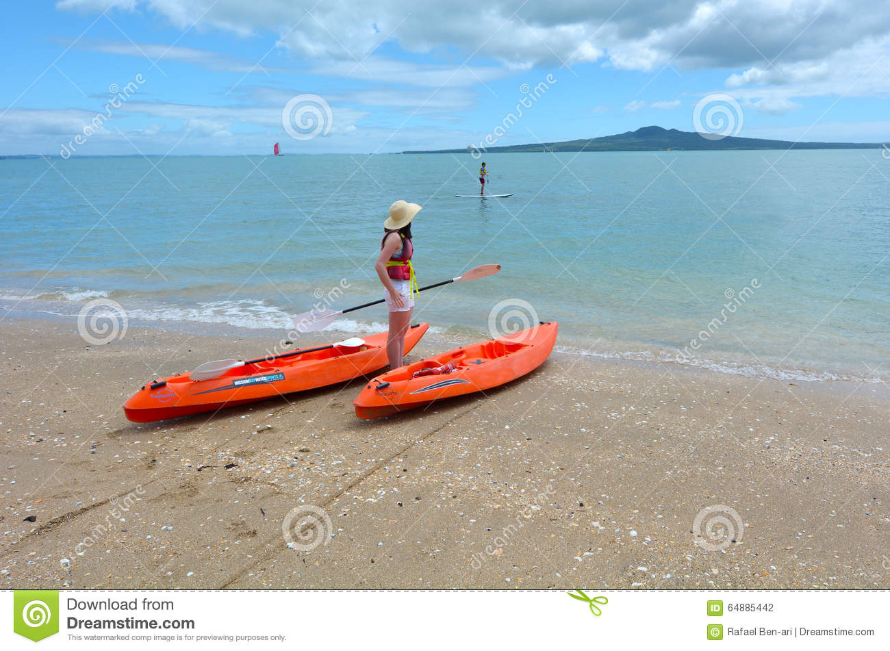 Mission bay beach in auckland new zealand editorial - Mission bay swimming pool auckland ...