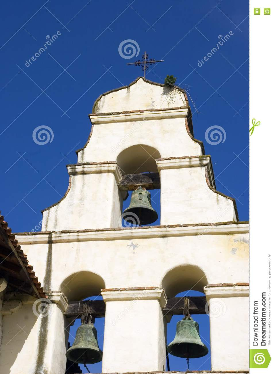 mission bell tower royalty free stock images