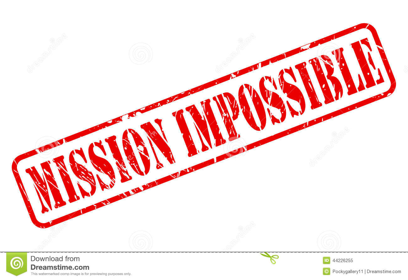 Mission Impossible Red Stamp Text Stock Vector Image
