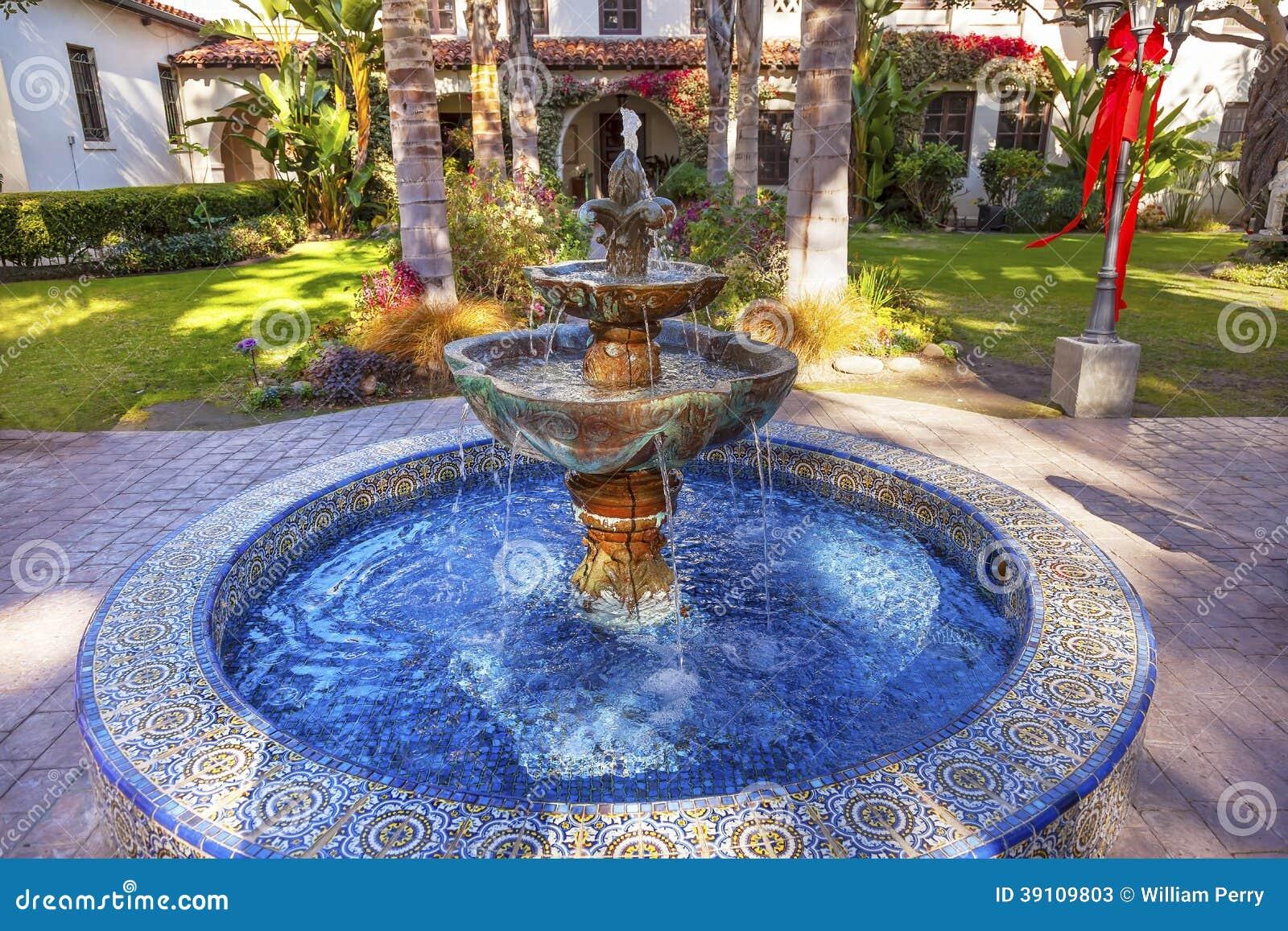 Mission Mexicaine San Buenaventura Ventura Ca De Jardin De Fontaine ...