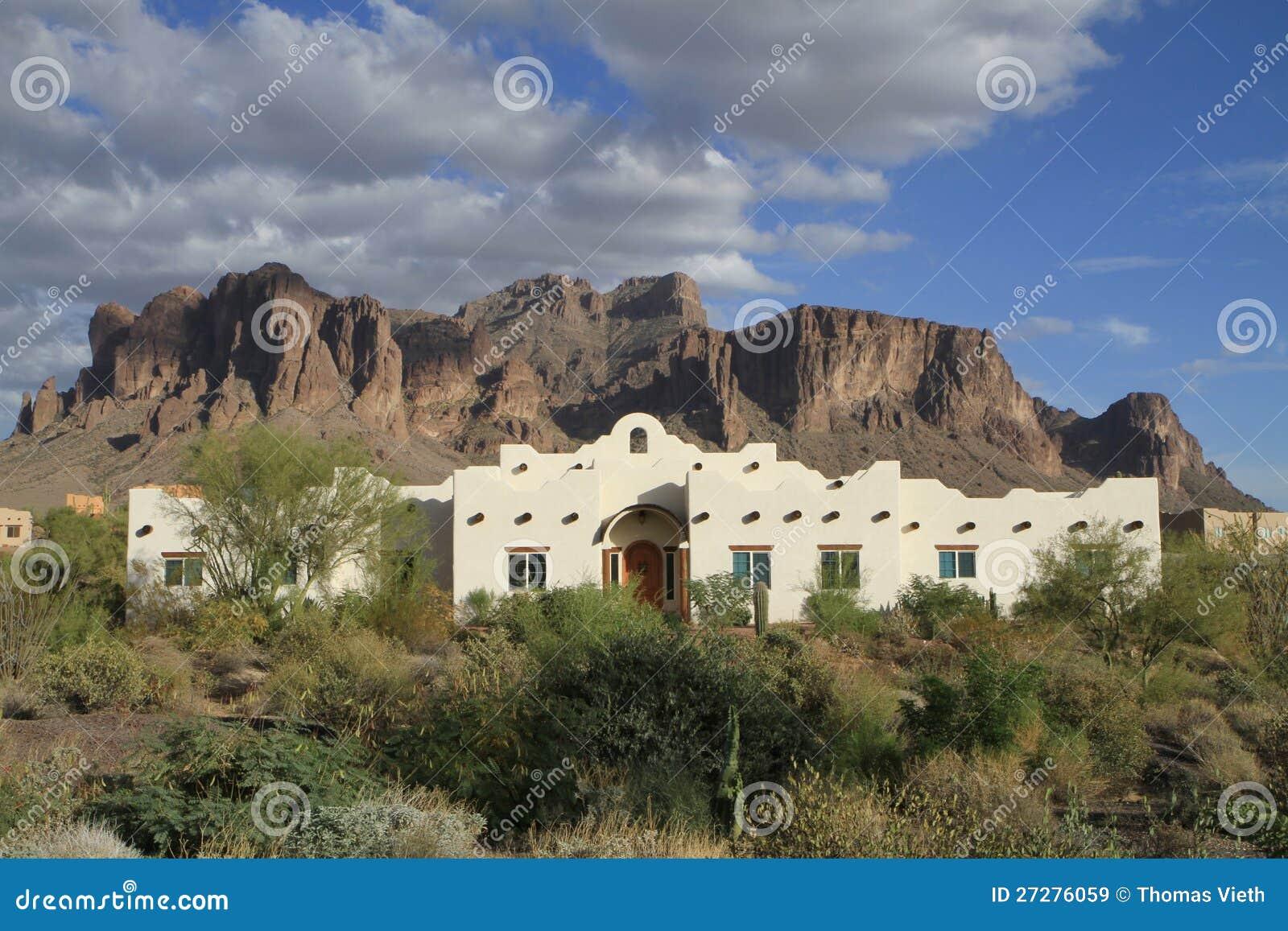 Usa Arizona Sonoran Desert Mission Revival Adobe Royalty