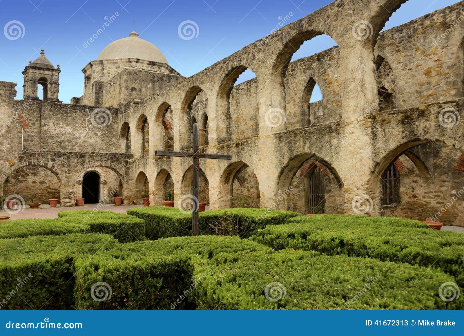 Mission San Jose San Antonio Texas Stock Image Image Of
