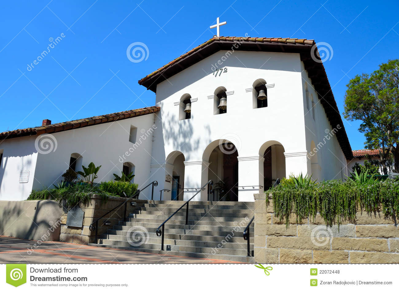 Mission San Luis Obispo De Tolosa Royalty Free Stock Photos - Image ...