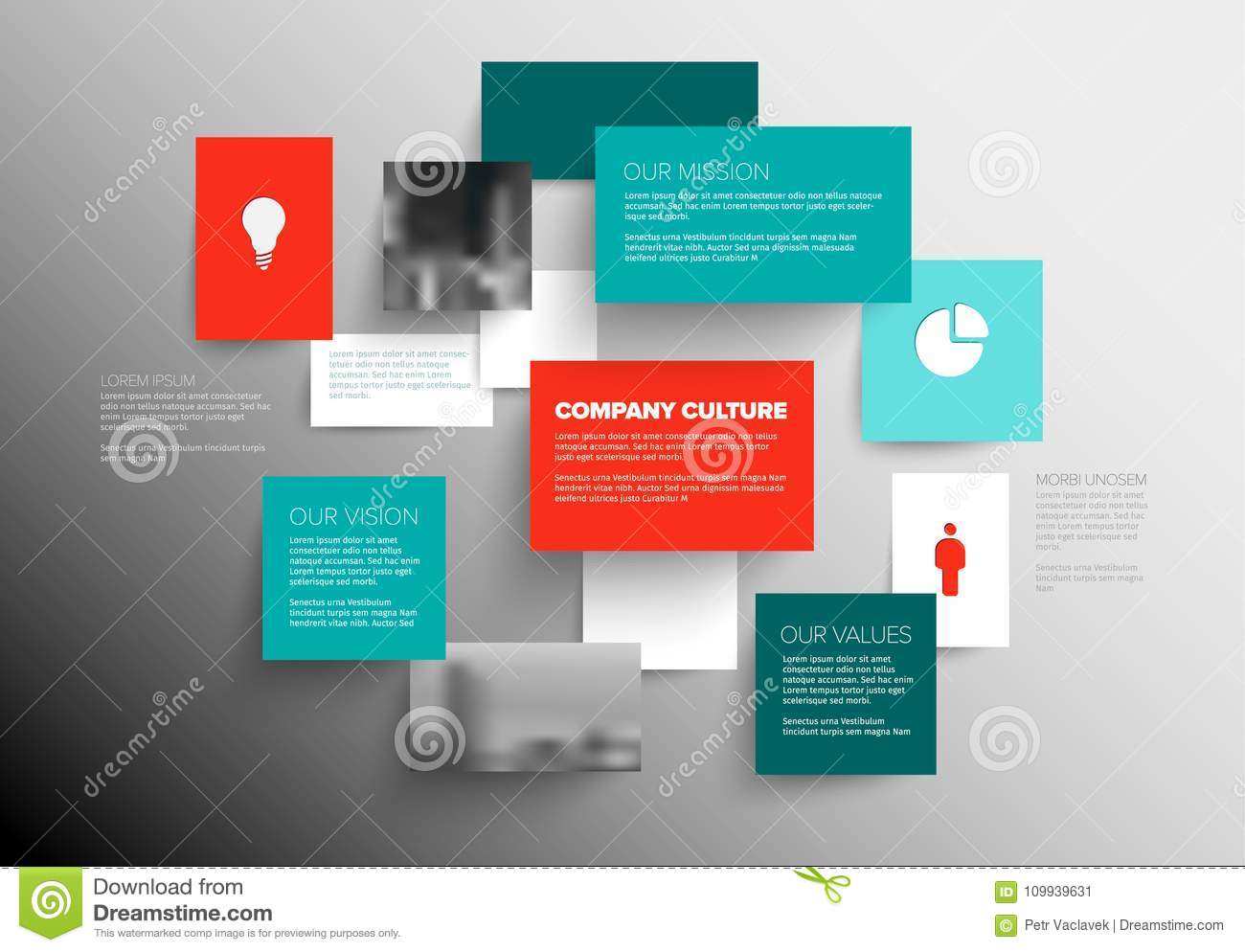 Mission, Vision And Values Diagram Stock Vector - Illustration of ...