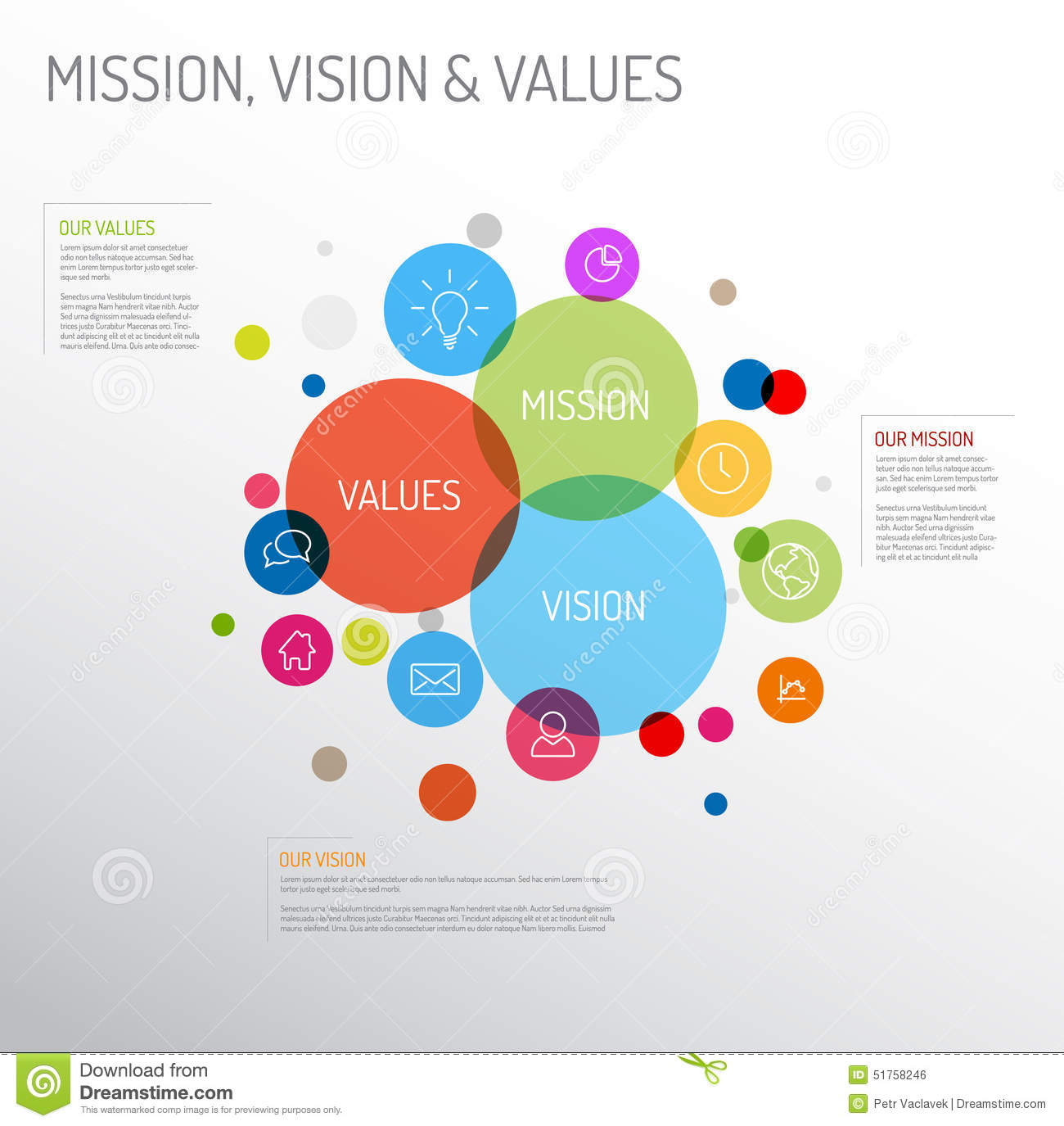 Mission vision and values diagram stock vector illustration of mission vision and values diagram royalty free vector download mission ccuart Images