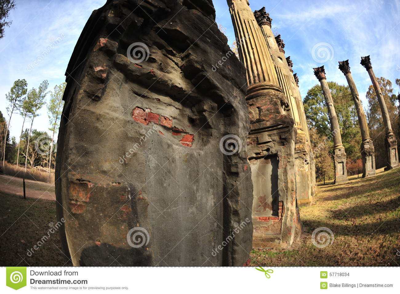 Mississippi Delta Ms Rodney Windsor Ruins Stock Photo