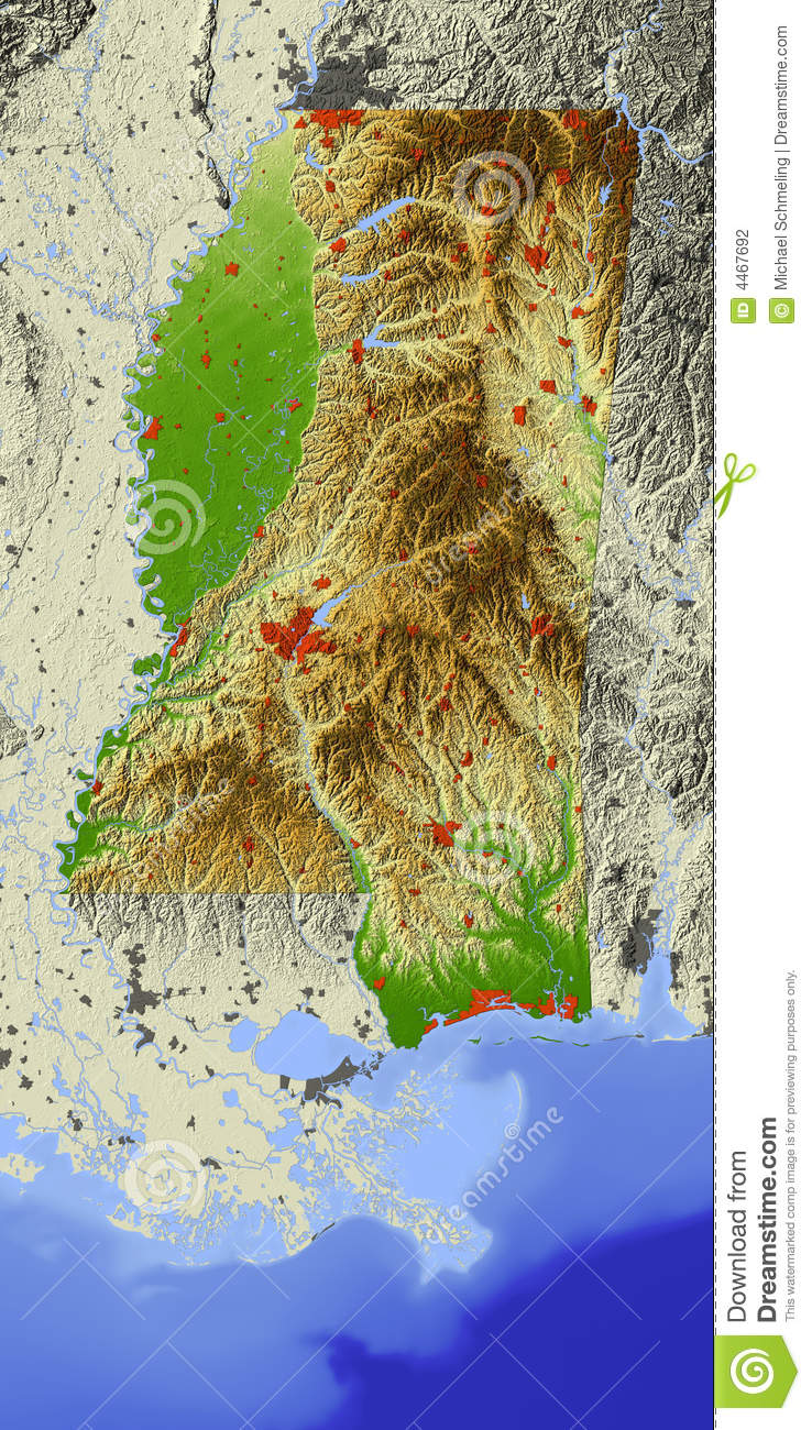 what is relief on a topographic map