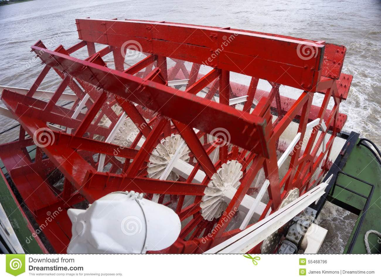 Mississippi River Paddle Boat Wheel