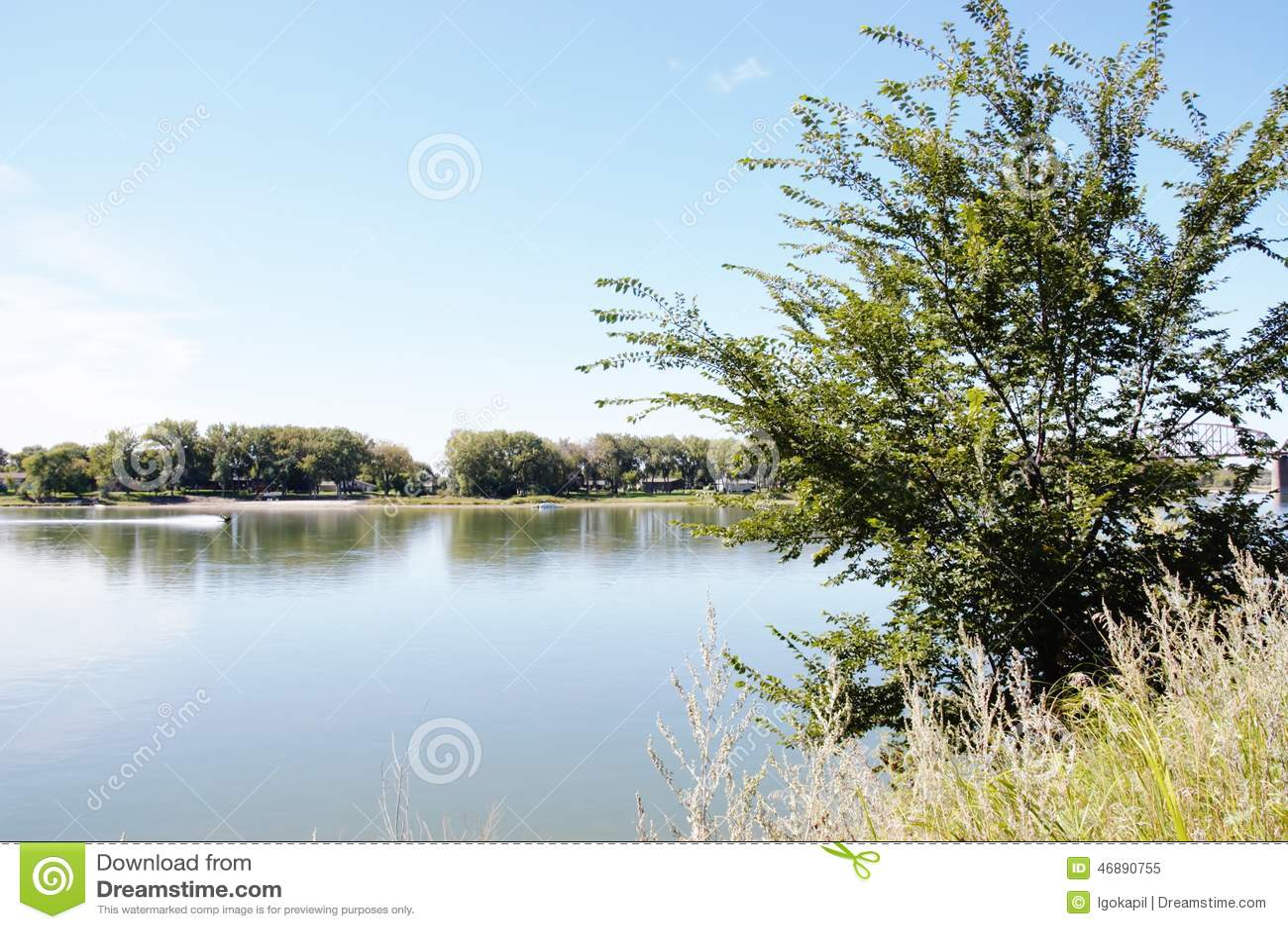 Missouri River i North Dakota