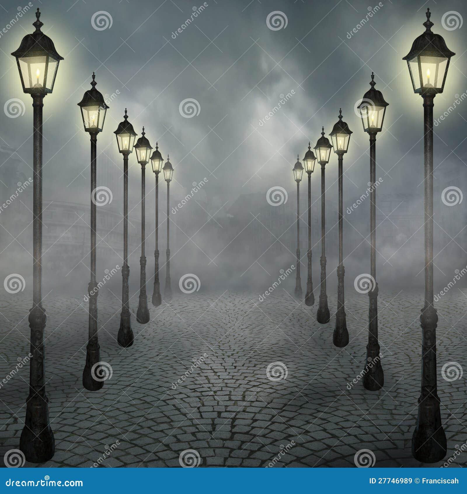 Mist in de stad