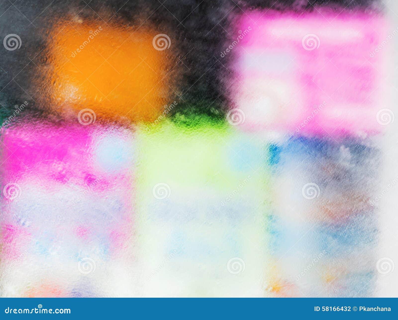 The Mist On Glass Window Of Refrigerator Stock Photo Image