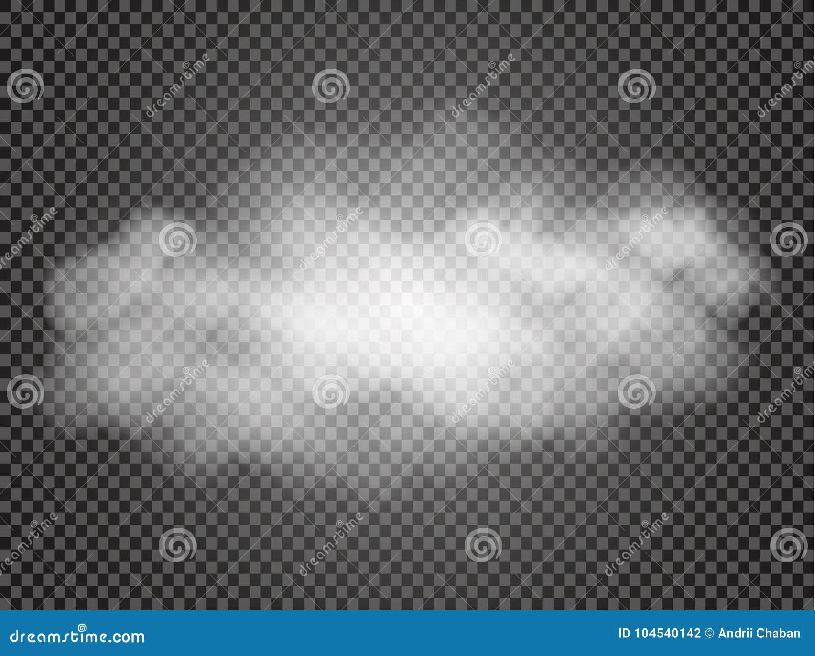 Mist of rook transparant speciaal effect Witte vectortroebelheid, mist of smogachtergrond Vector illustratie