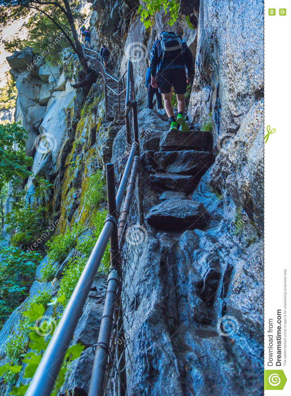Mist Trail In Yosemite Valley Stock Photo - Image: 73495985