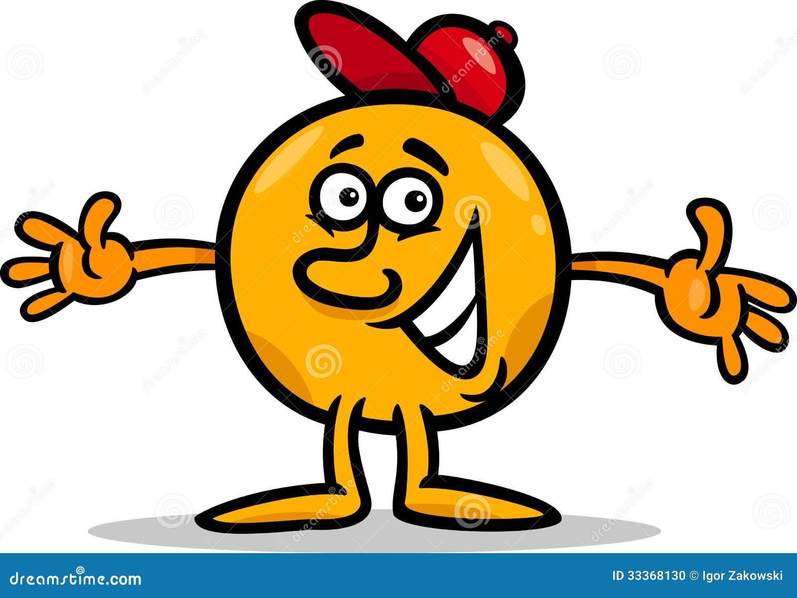 Mister Ball Cartoon Character Illustration Stock Vector