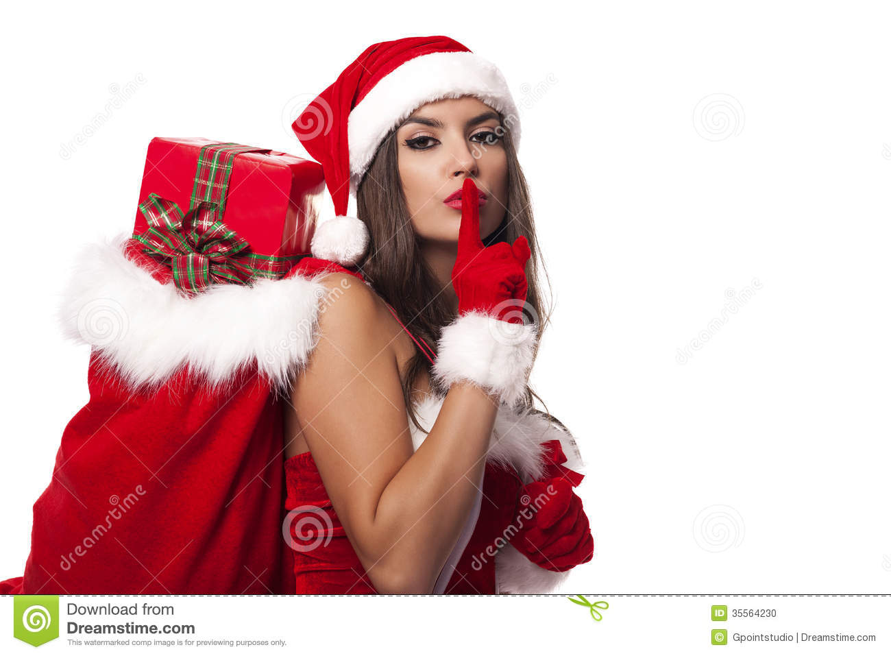 sexy Christmas santa girls claus