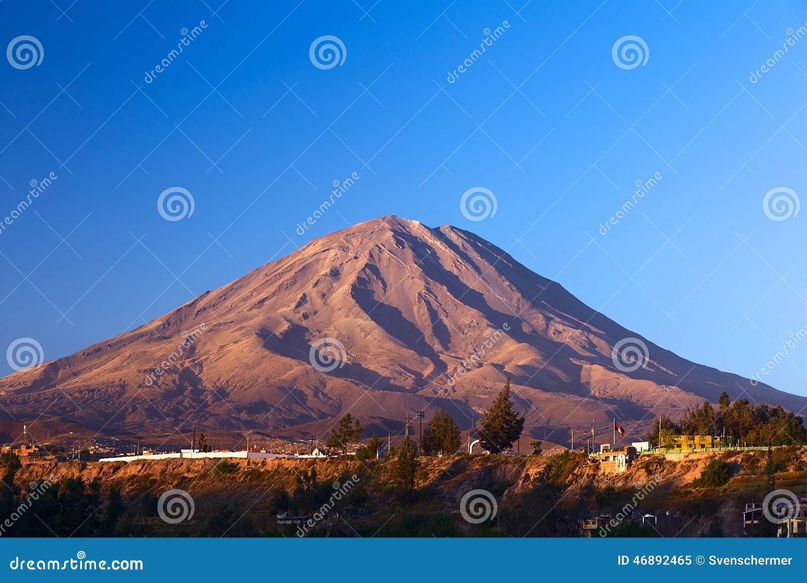 Download Misti Volcano At Arequipa, Peru Stock Image - Image of volcano, symbol: 46892465