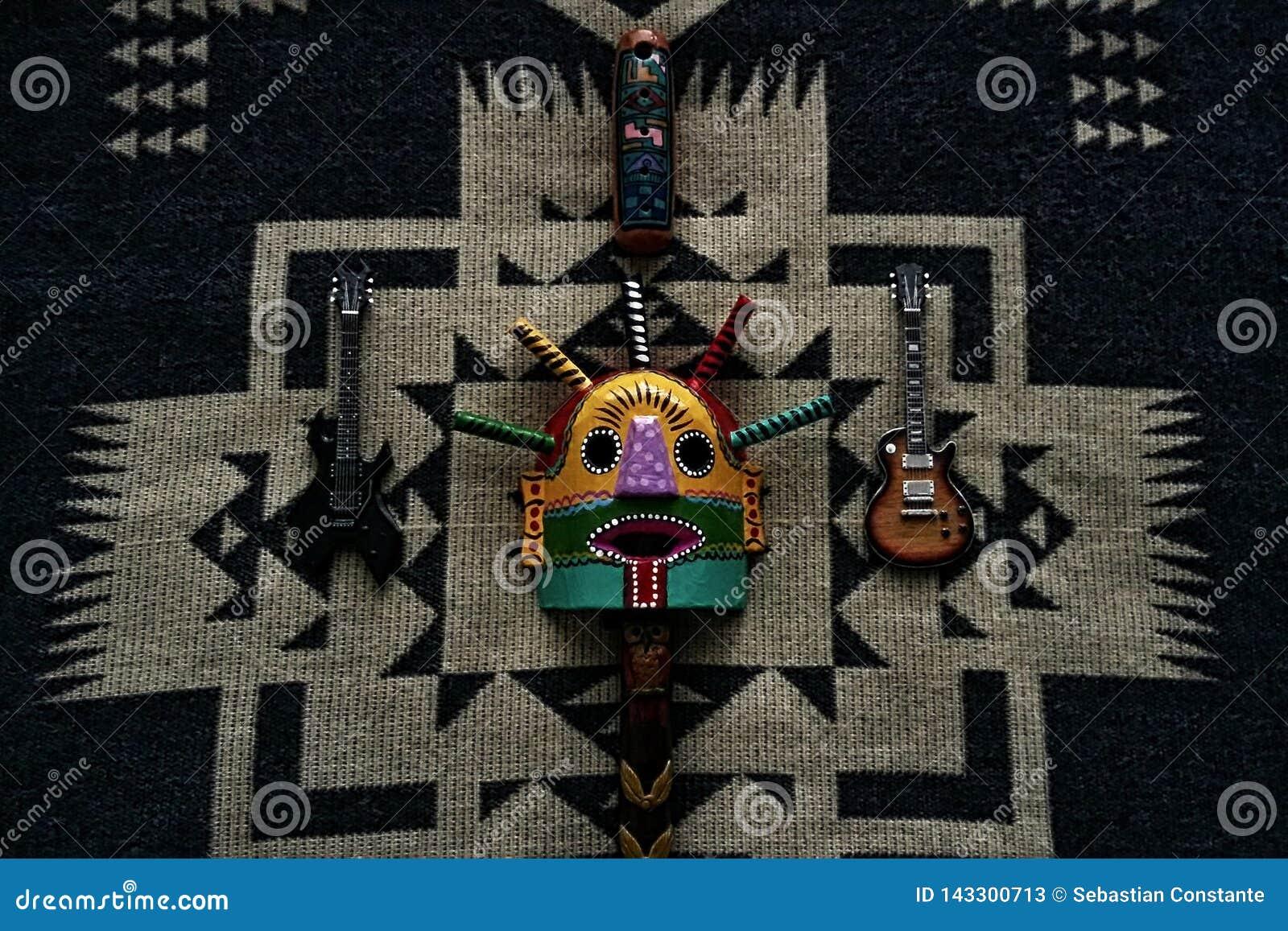 Mistura cultural da rocha andina estranha