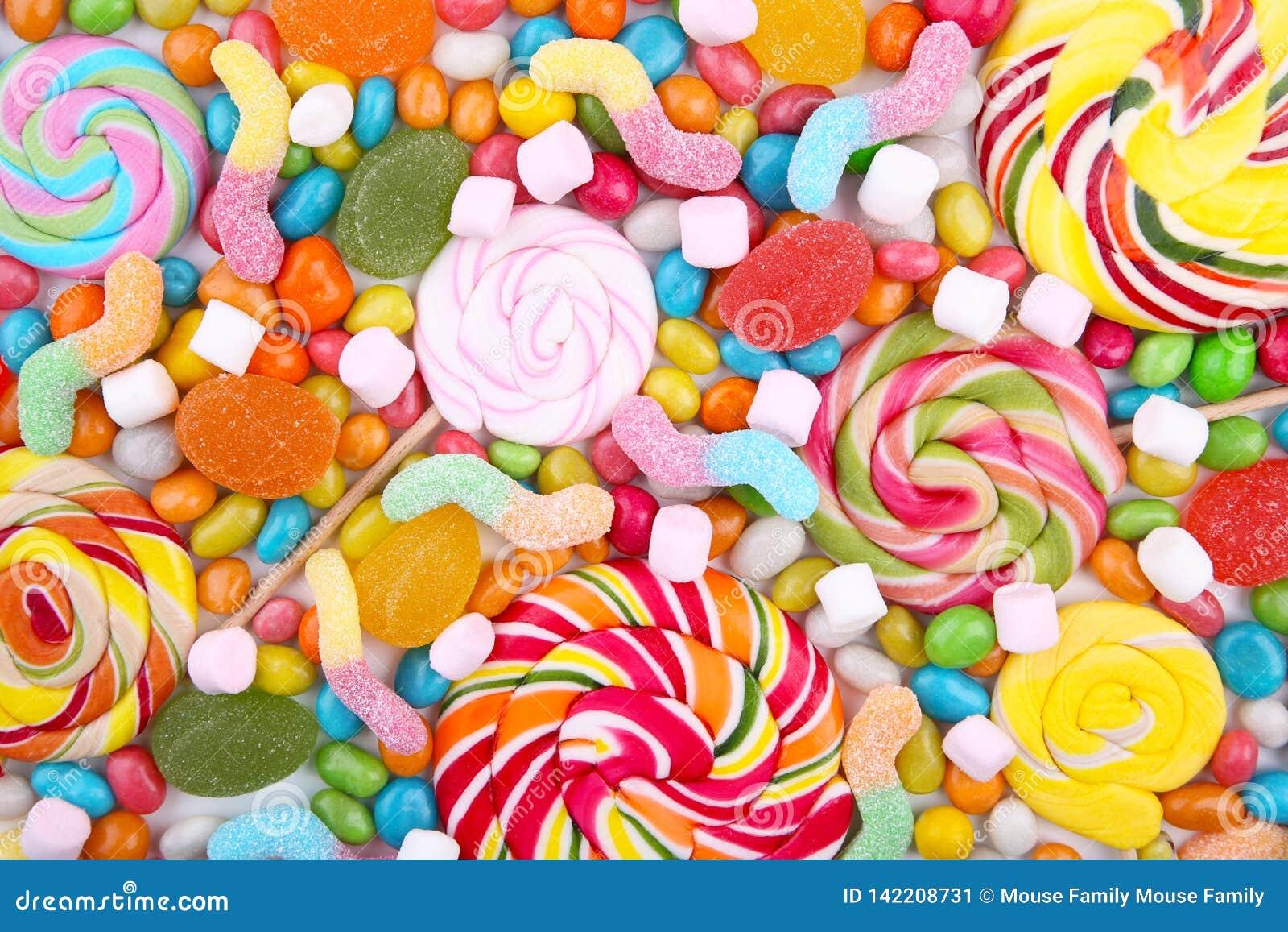 Mistura sortido de vários doces e geleias