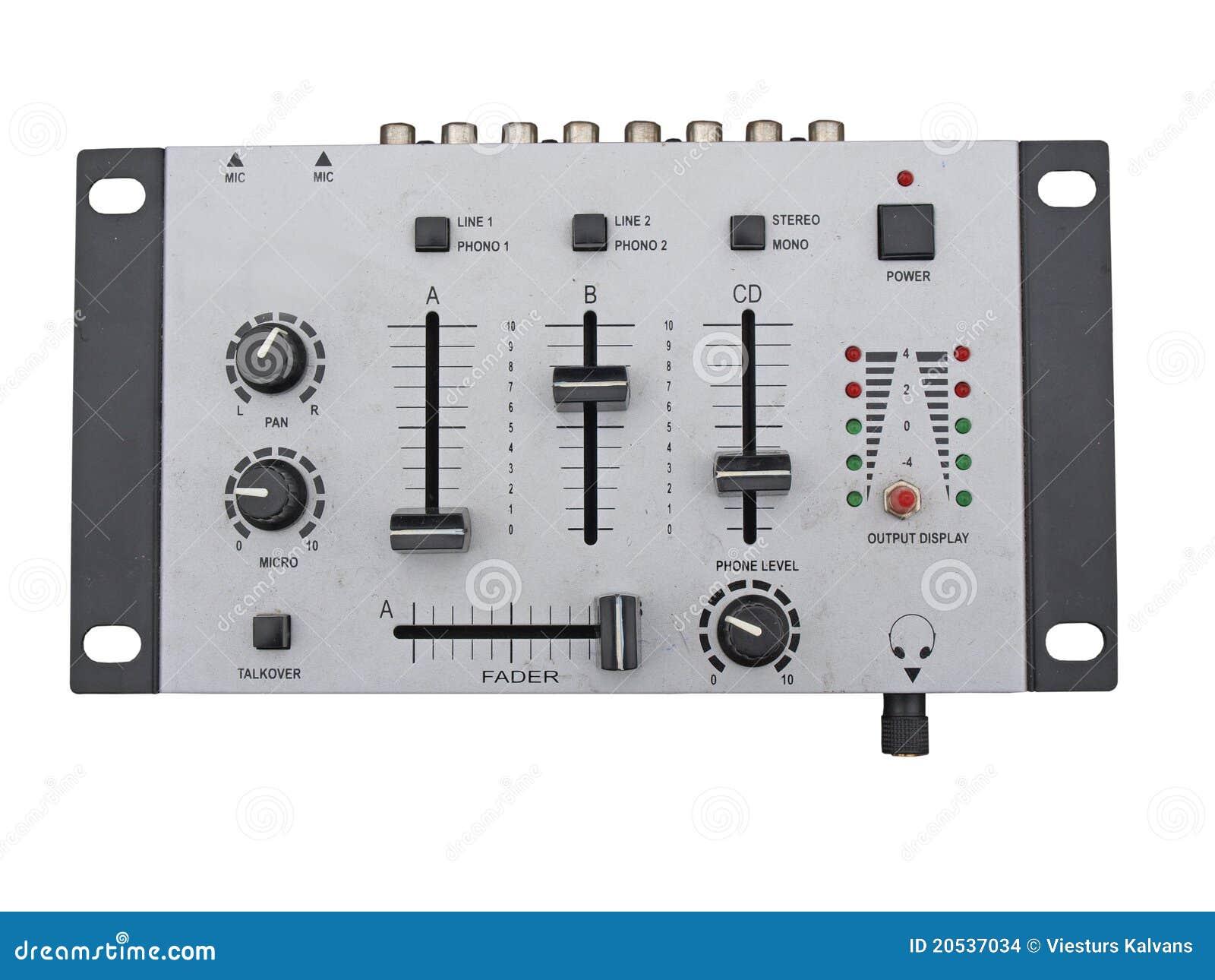 Misturador audio