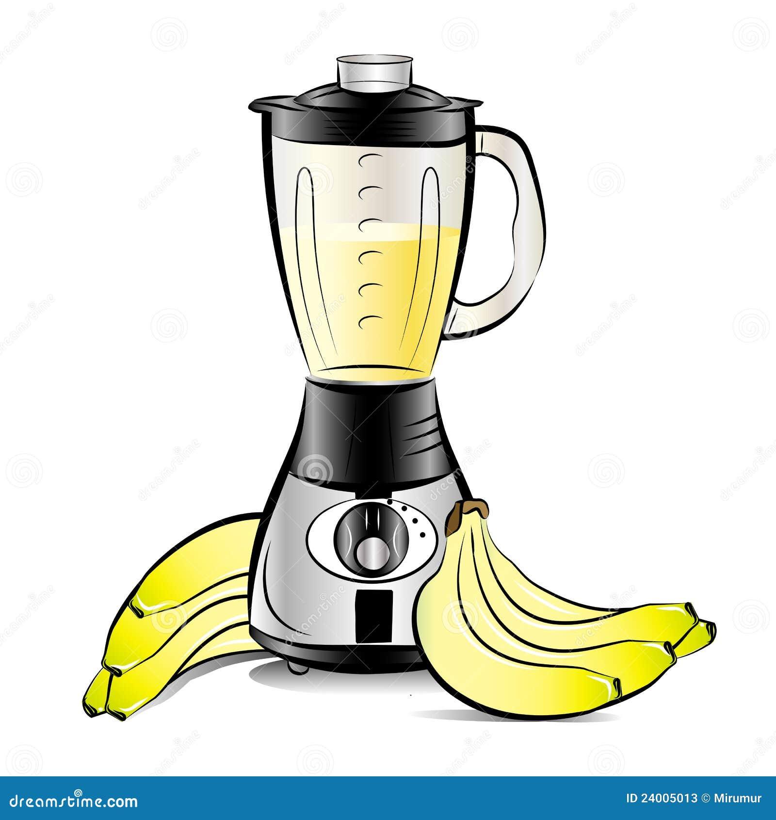 Misturador Da Cozinha Da Cor De Desenho Com Suco Das Bananas Fotos de  #BDBA0E 1300 1390