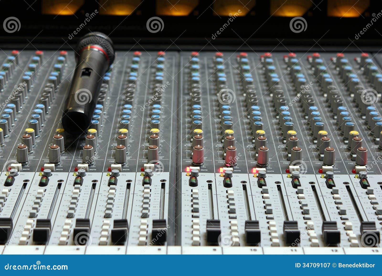 Misturador sadio audio com microfone