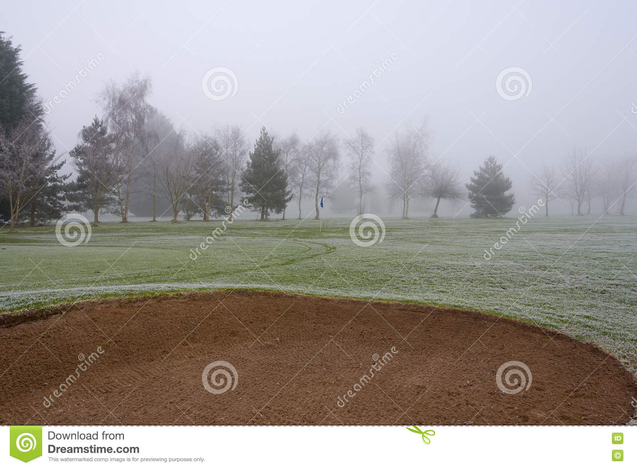 Misty Golf Course Bunker