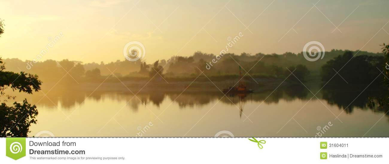 Download Misty River stock image. Image of foggy, lake, trouble - 31604011