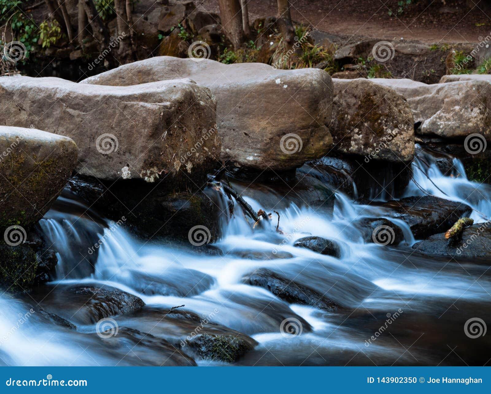 Misty River Waterfall in Park