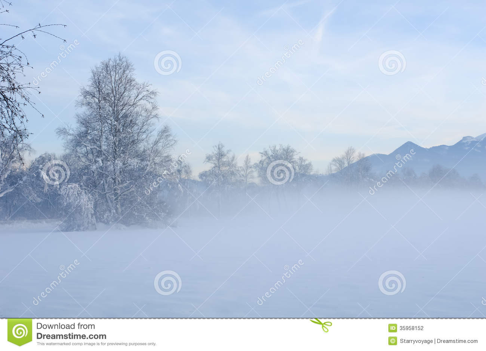 Misty Winter Sunset II