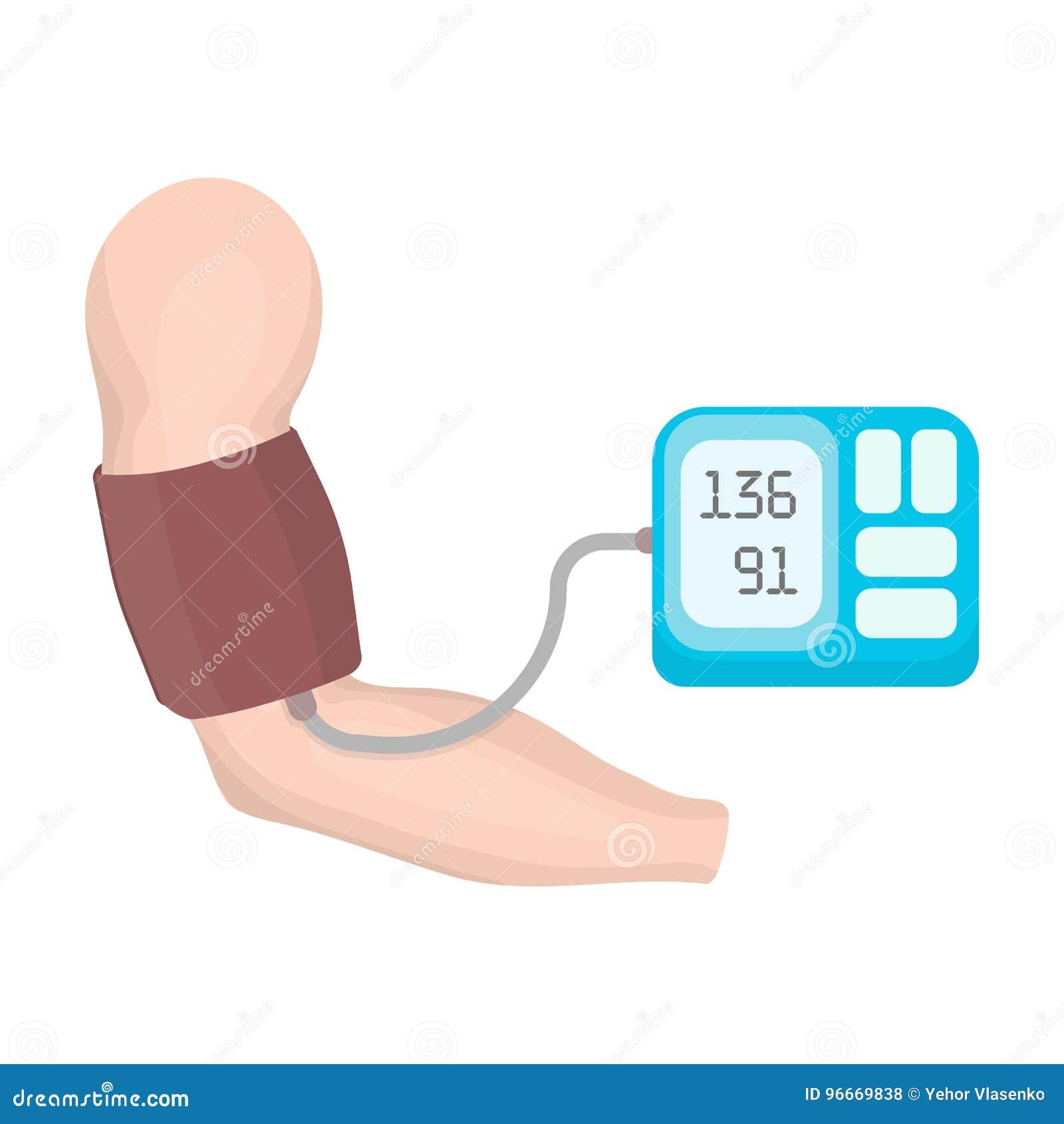 Misura Di Pressione Sanguigna Con Un Tonometer Singola..