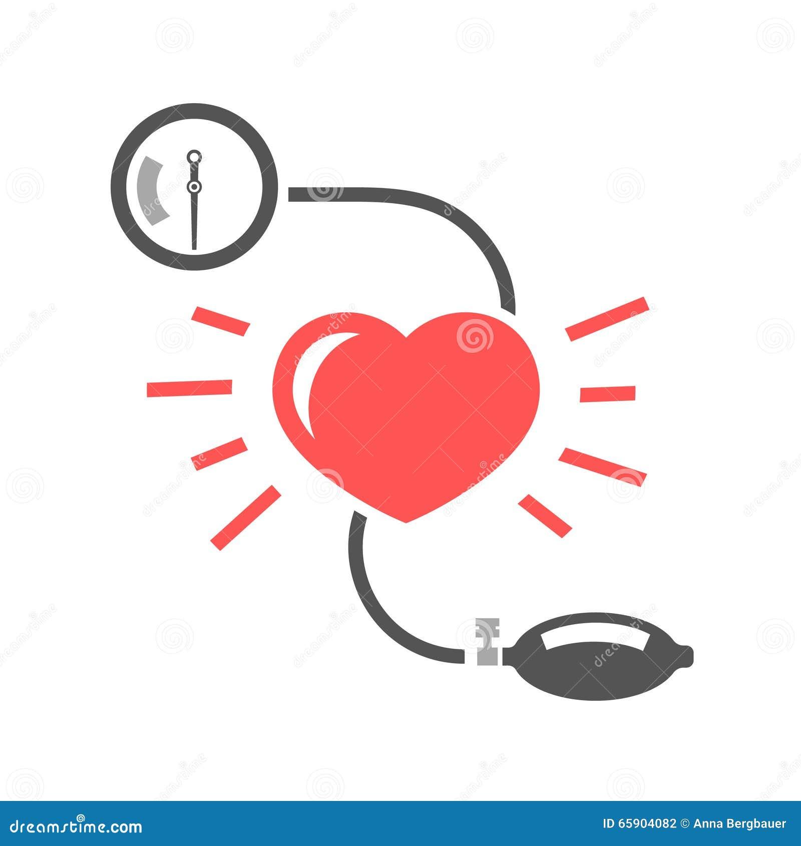 Misurazione Di Pressione Sanguigna Illustrazione..
