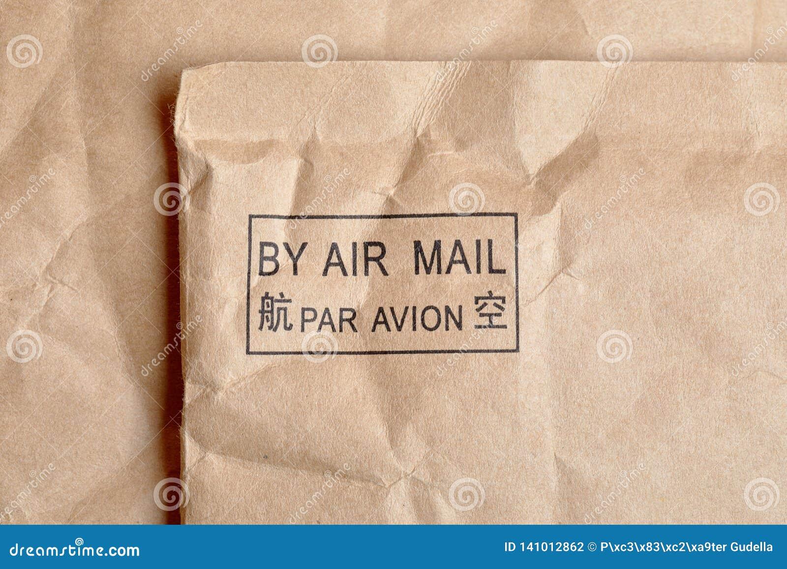 Mit Luftpost Stempel
