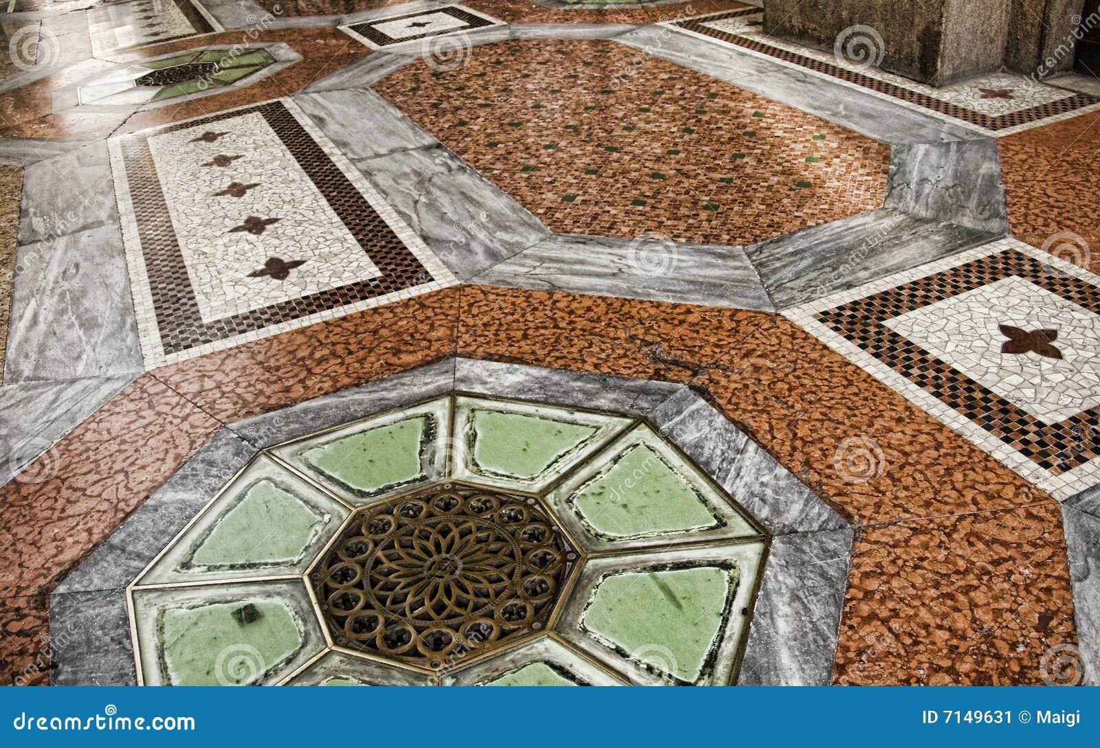Fußboden Ziegel ~ Mit ziegeln gedeckter fußboden stockbild bild von zeile stein