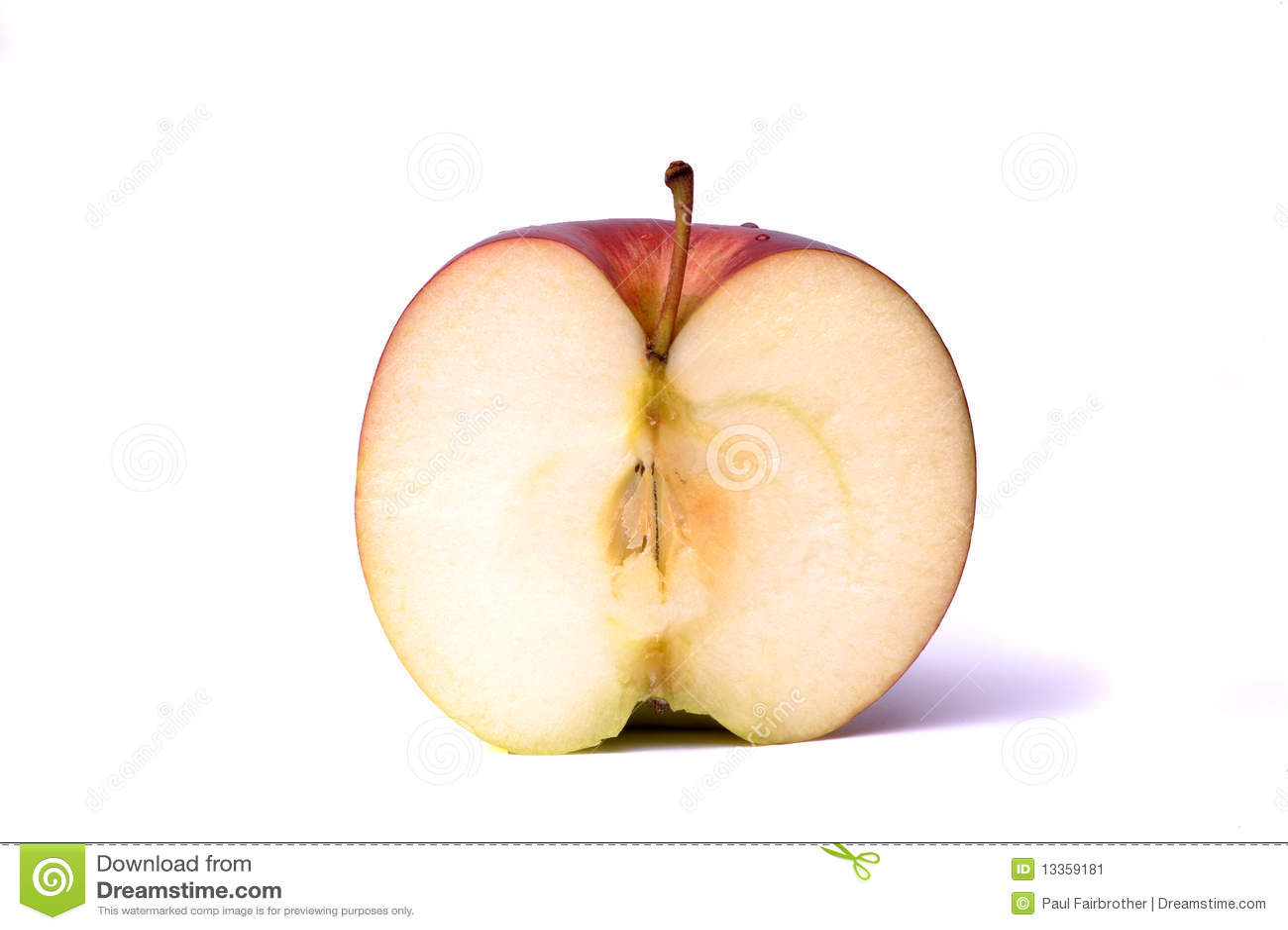 Mitad de una manzana