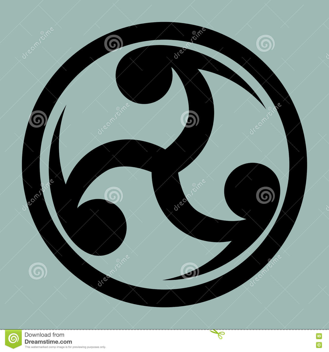 Mitsu tomoe japanese triad symbol stock illustration for Chinese triad tattoo