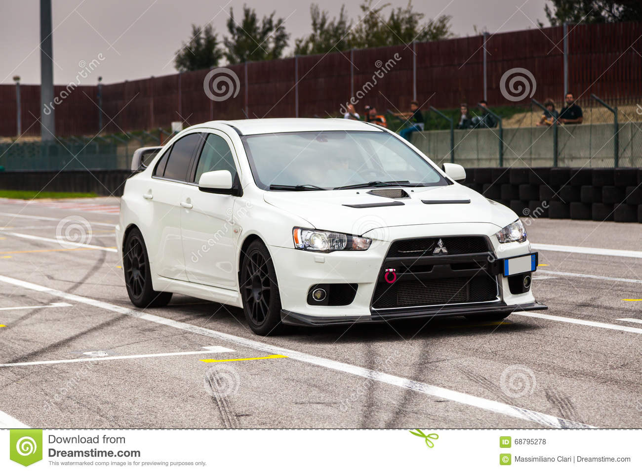 Mitsubishi EVO 10 editorial stock photo. Image of drive - 68795278
