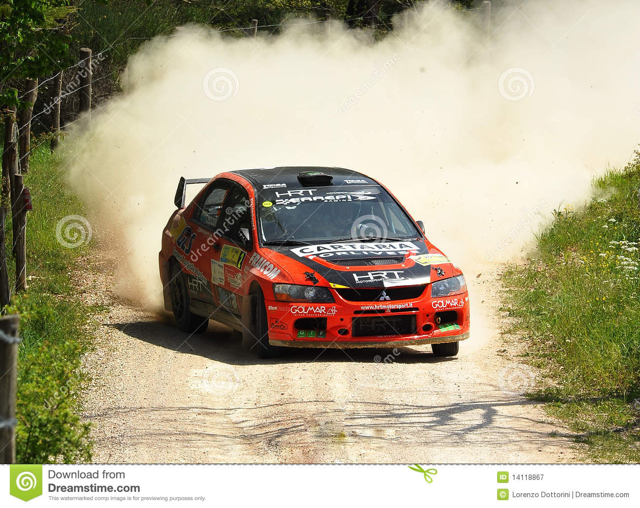 Mitsubishi Lancer Evo IX Rally Car Editorial Photography - Image of ...