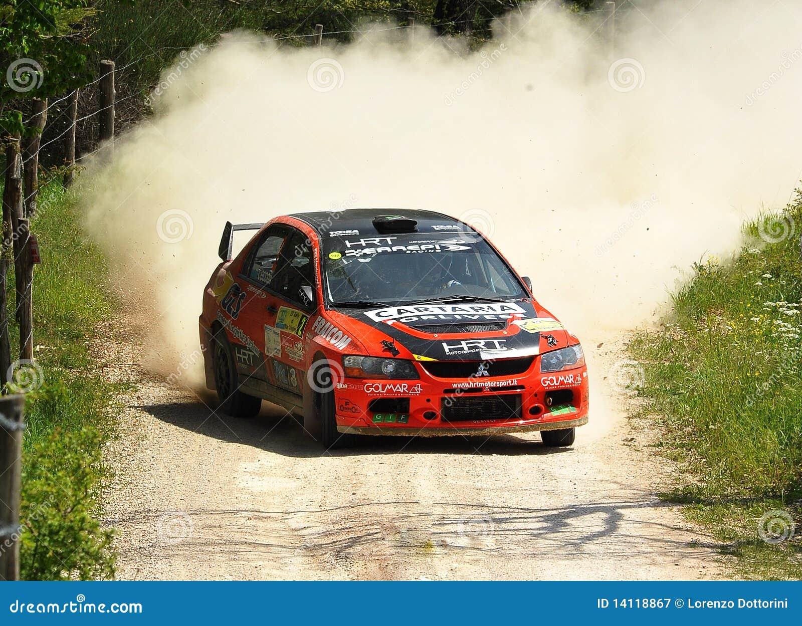 Mitsubishi Lancer Evo IX Rally Car Editorial Photography - Image ...