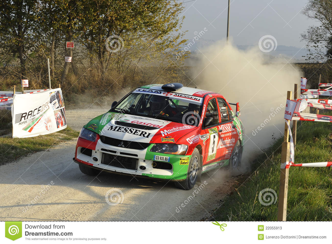Mitsubishi Lancer Evo IX Rally Car Editorial Stock Photo - Image of ...