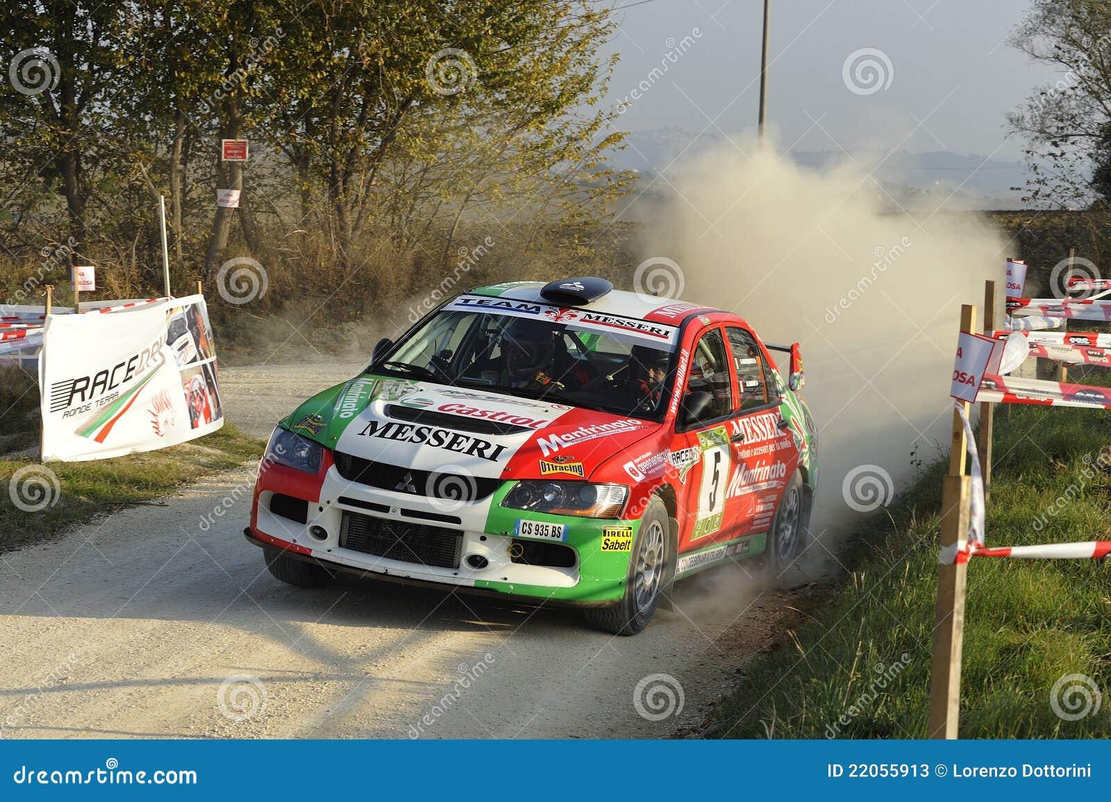 Mitsubishi Lancer Evo IX Rally Car Editorial Stock Photo - Image ...