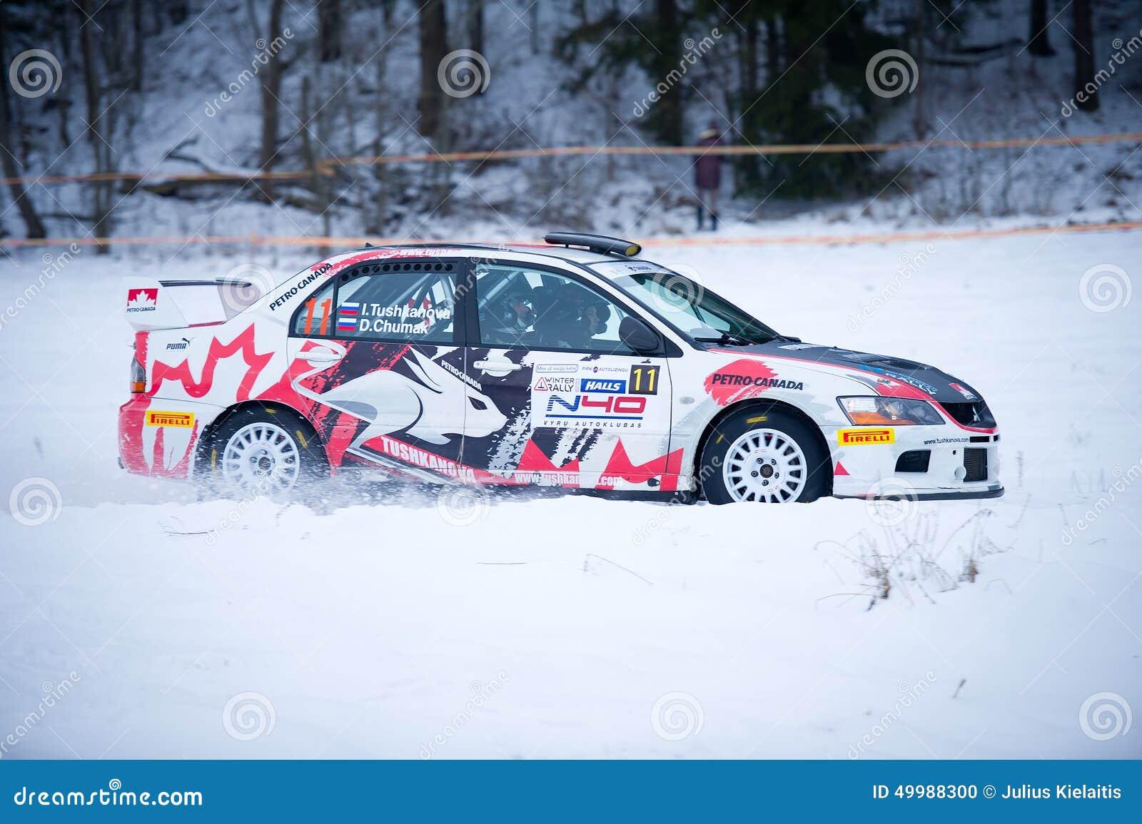 Mitsubishi Lancer Evo Ix Rally Car Editorial Image Image Of Auto