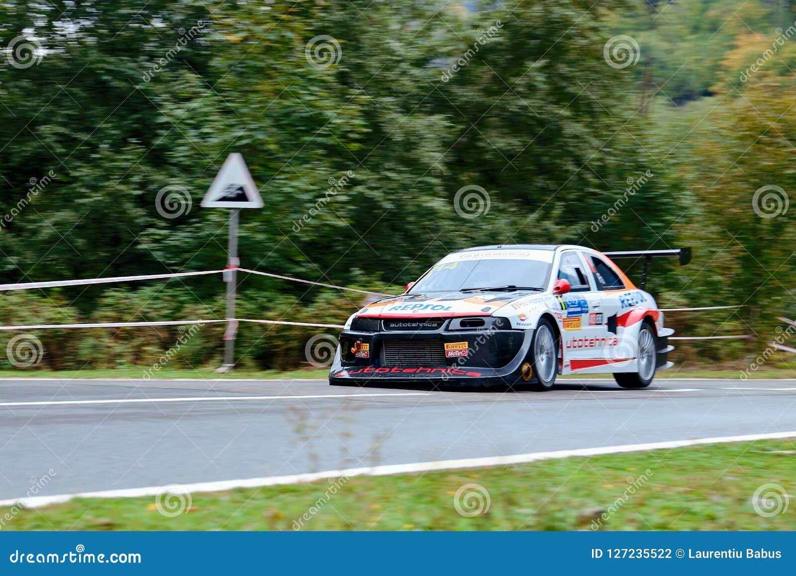 Mitsubishi Lancer Evo V Tuning Rally Car Editorial Photography