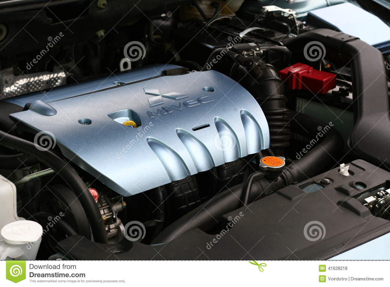 Mitsubishi Mivec Lancer Engine Top Editorial Stock Photo - Image: 41628218