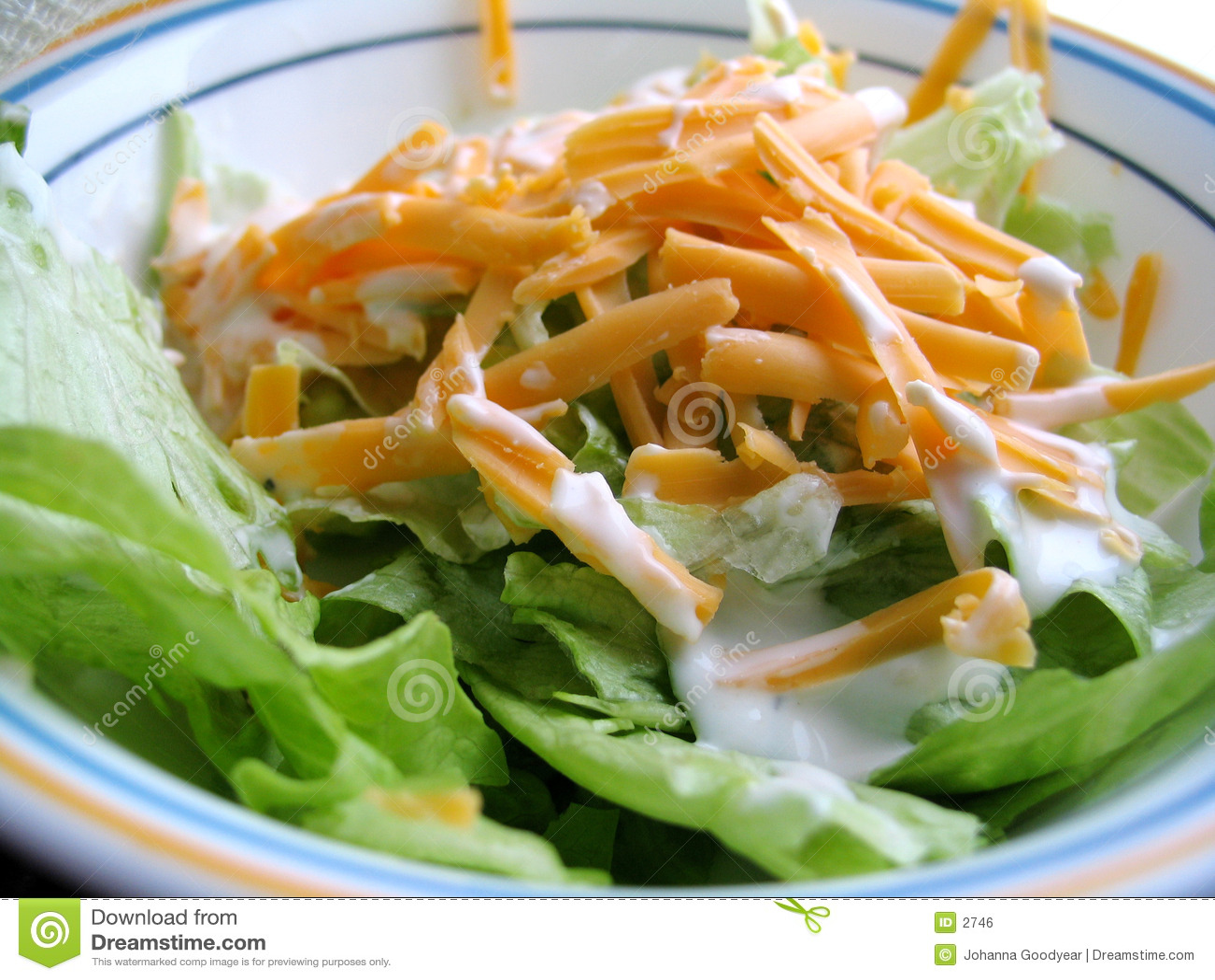 Mittagessen-Salat