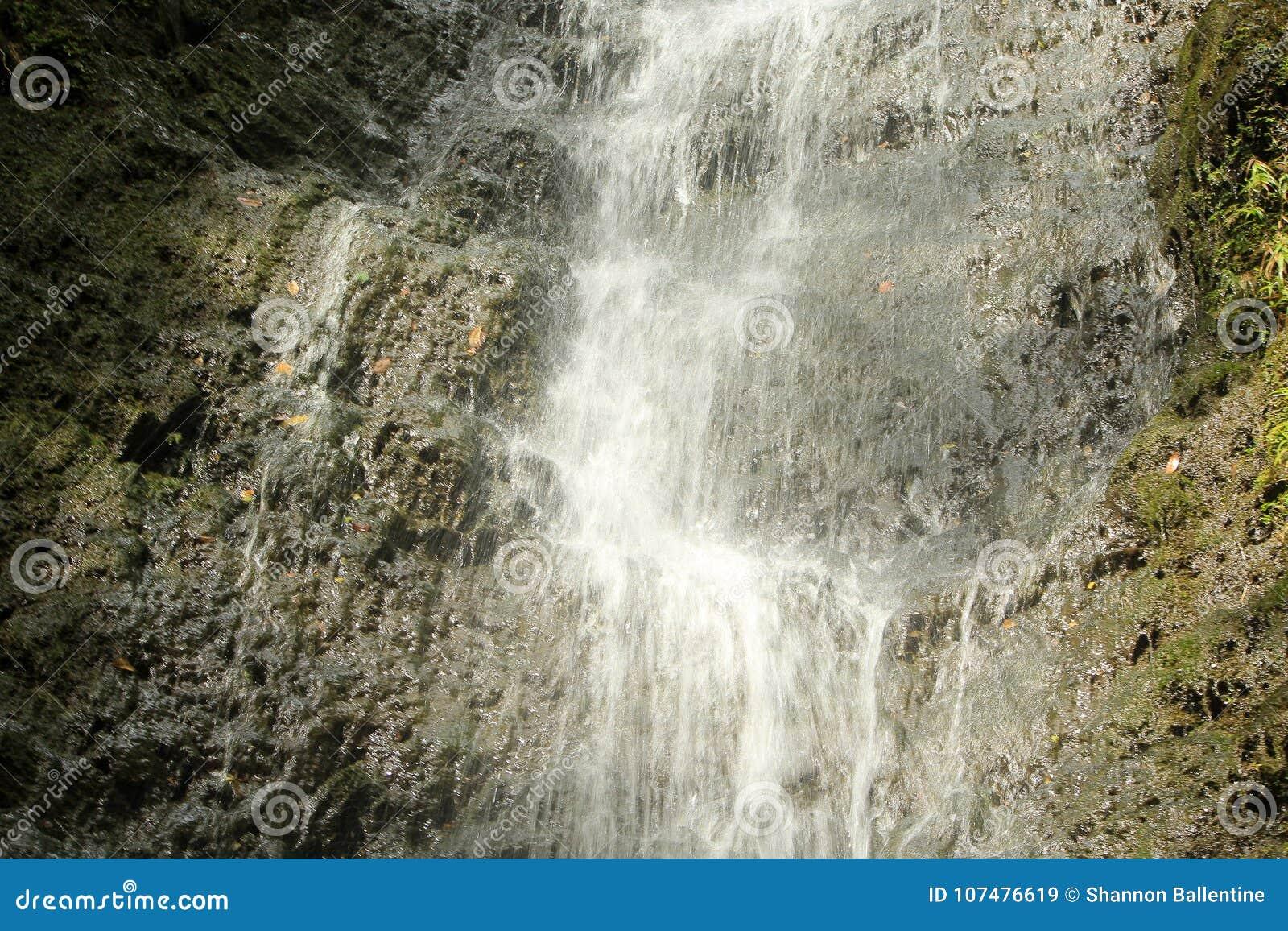 Mitte des Wasserfalls