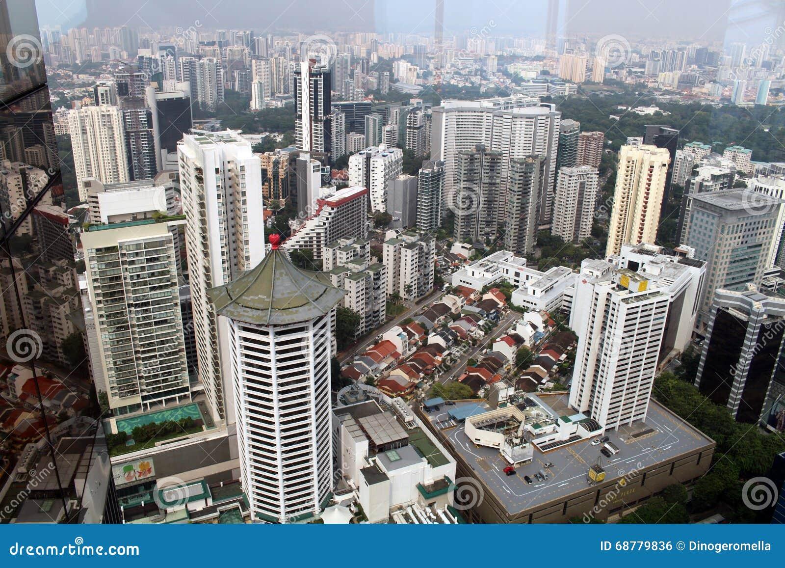 Mitte von Singapur, glättend in der Stadt