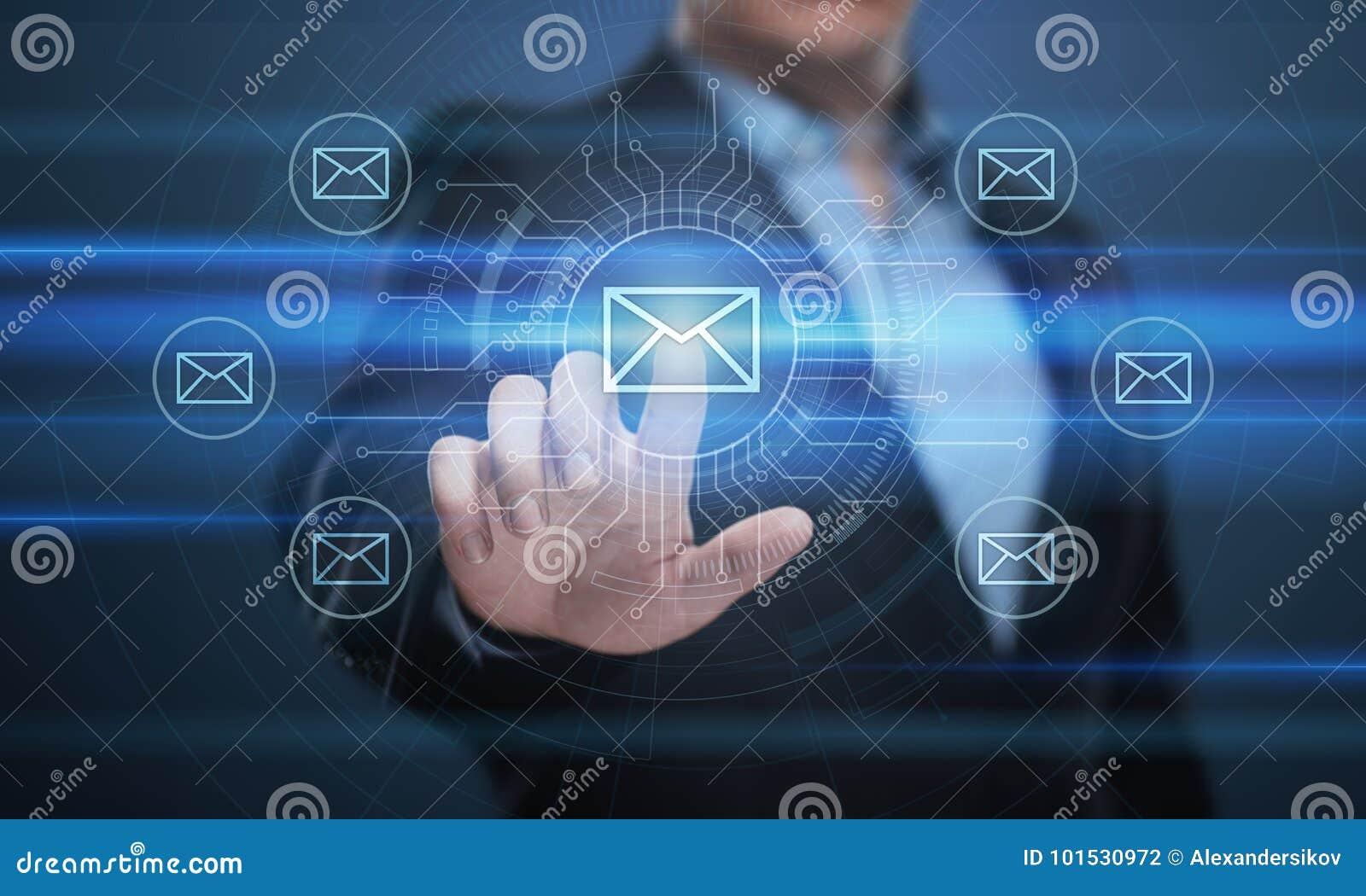 Mitteilungs-E-Mail-Post-Kommunikations-on-line-Chat-Geschäfts-Internet-Technologie-Netz-Konzept