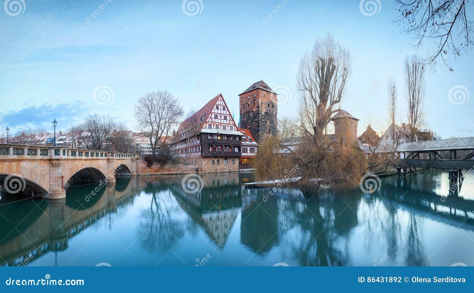 Mittelalterliche Stadt Nürnberg, Deutschland