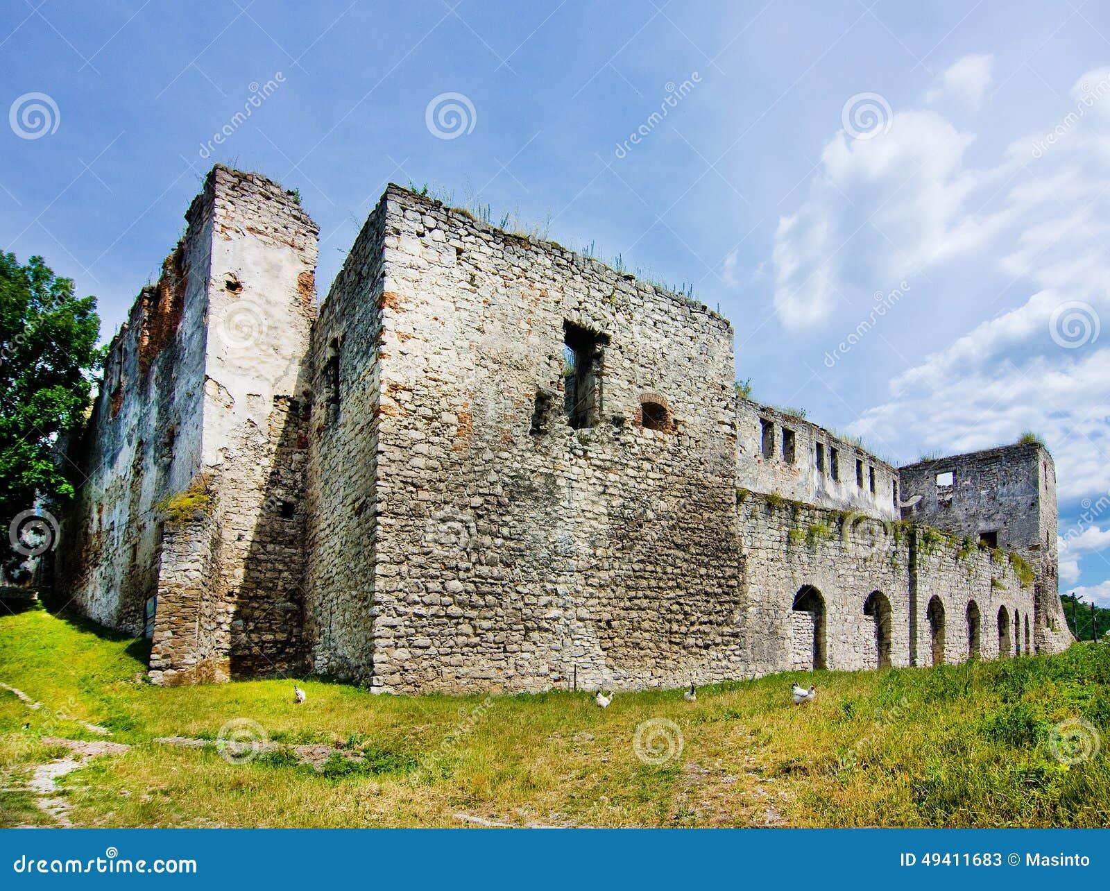 Download Mittelalterliches Schloss In Chortkiv Stockbild - Bild von aufsatz, östlich: 49411683